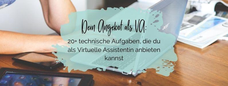 Dein Angebot als VA: 20+ technische Aufgaben, die du als Virtuelle Assistentin anbieten kannst