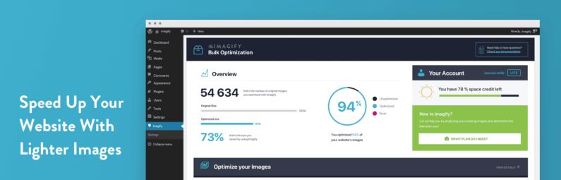 Imagify – Optimize your Images & Convert WebP