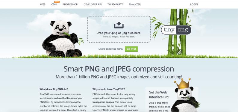 Bildoptimierung Website