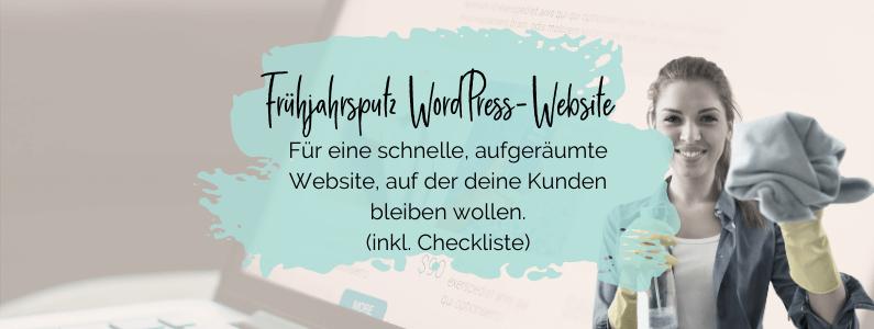 Frühjahrsputz Website