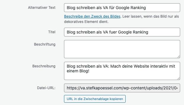 Bildoptimierung für Suchmaschinen
